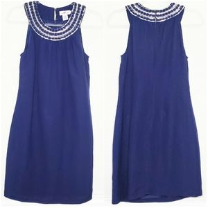 VINEYARD VINES   Sequin Neck Sleeveles Linen Dress